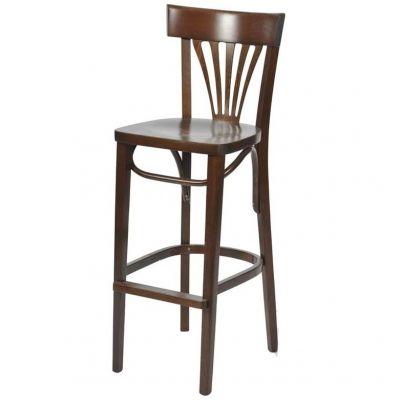 Bentwood Solid Seat Fan Back High Chair