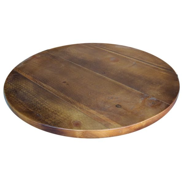 Round Polished Reclaimed Table Top 35mm
