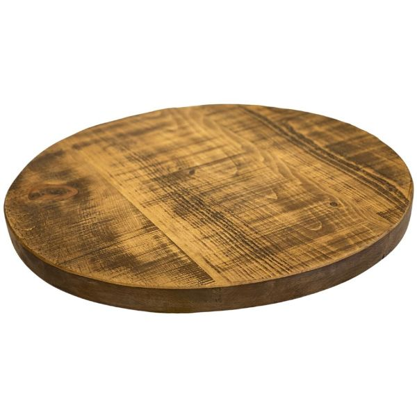 Round Rustic Reclaimed Table Top 70mm