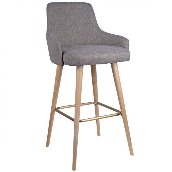 Camden High Chair (Brass Foot Rest)