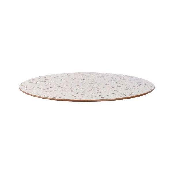 Round Compact Laminate Table Top - 700mm Diameter (Terrazzo)