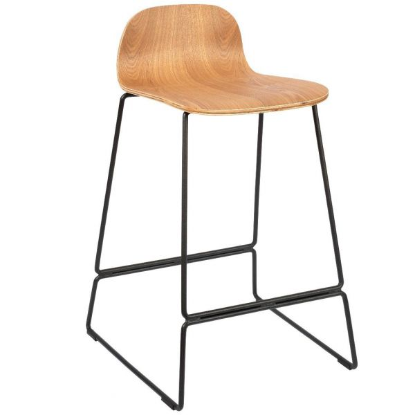 Copenhagen Mid Height Stool (Clear Lacquer)