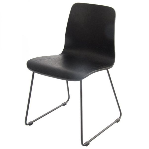 Copenhagen Skid Base Side Chair (Black)