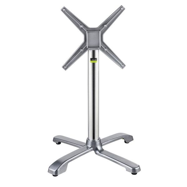 Auto Adjust SX26 Dining Height Flip-Top Table Base (Silver)