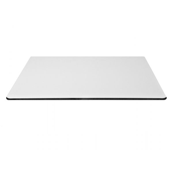 Square Compact Laminate Table Top - 700mm x 700mm (White)