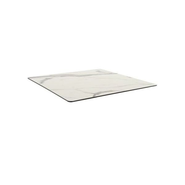 Compact Laminate Square Table Top - 700mm x 700mm (White Marble)