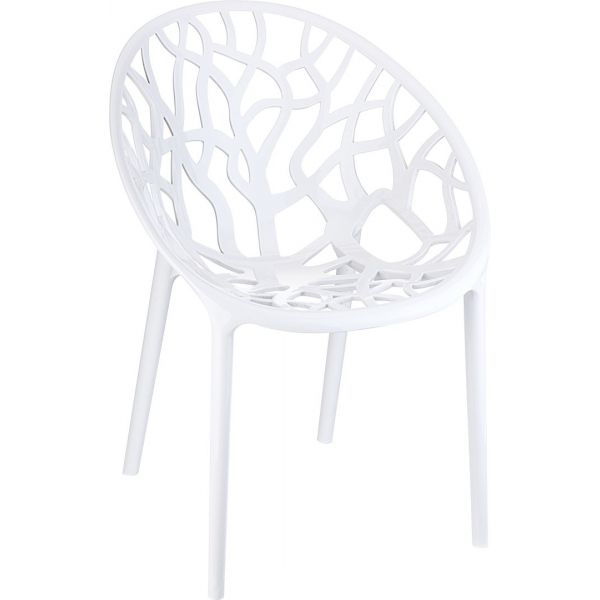 Crystal Armchair (Glossy White)
