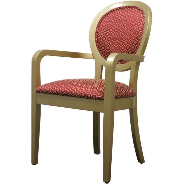 Louis King Open Arm Carver Chair