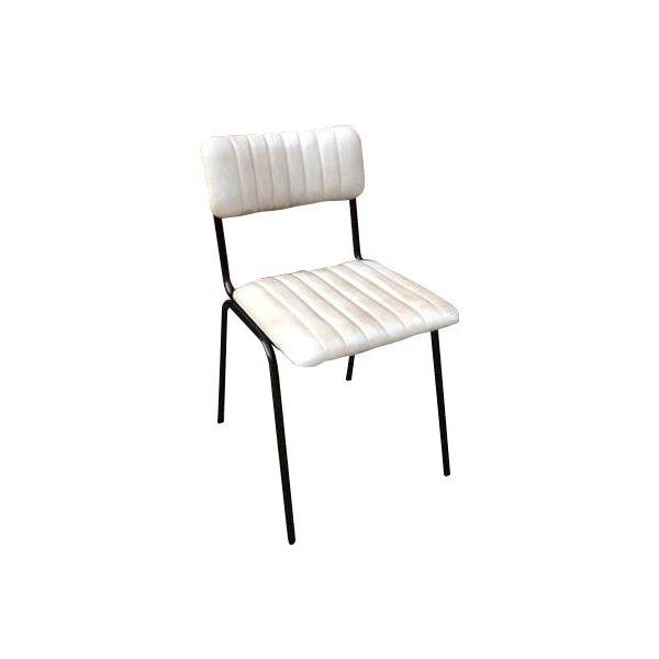 Rib Side Chair (Alabaster / Black)