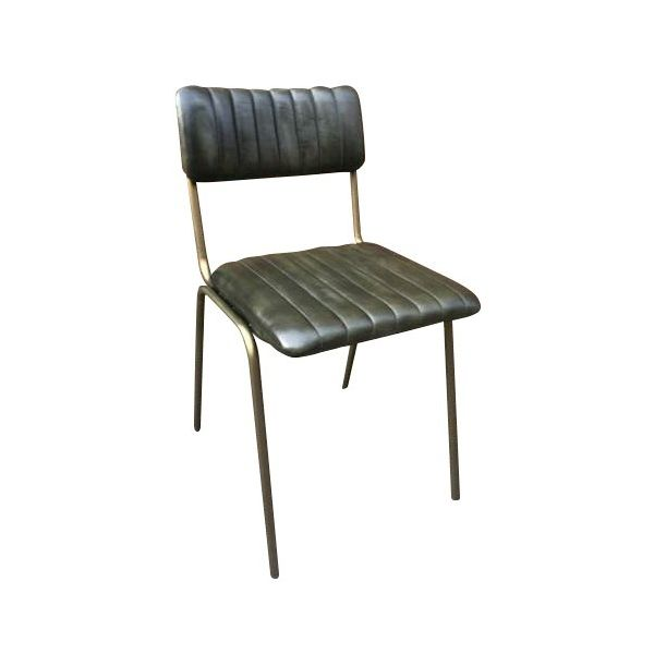 Rib Side Chair (Olive / Silver)