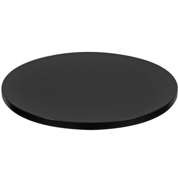 Round Mono Laminate Table Top - 800mm Diameter (Black)