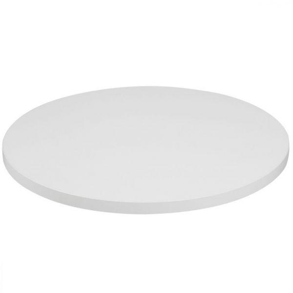 Round Mono Laminate Table Top - 700mm Diameter (White)