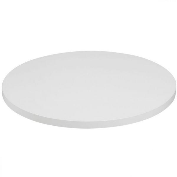Mono Laminate Round Table Top - 800mm Diameter (White)