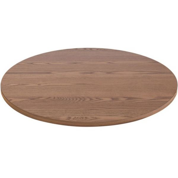 Round Solid Ash Table Top - 600mm Diameter (Oak)