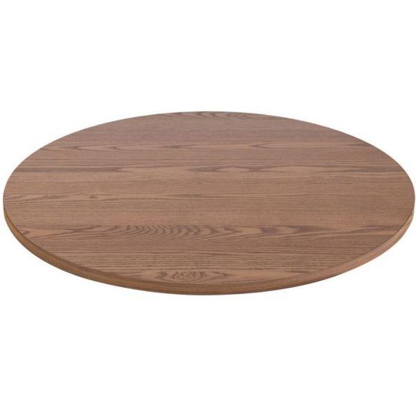 Round Solid Ash Table Top - 700mm Diameter (Oak)