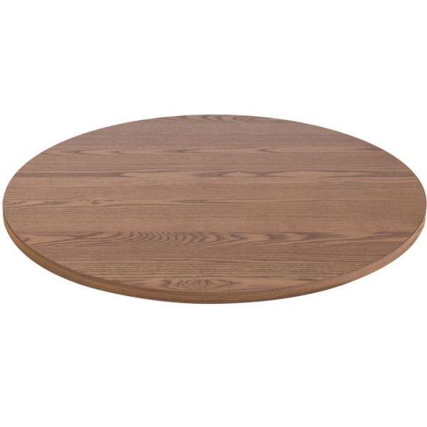 Round Solid Ash Table Top - 800mm Diameter (Oak)