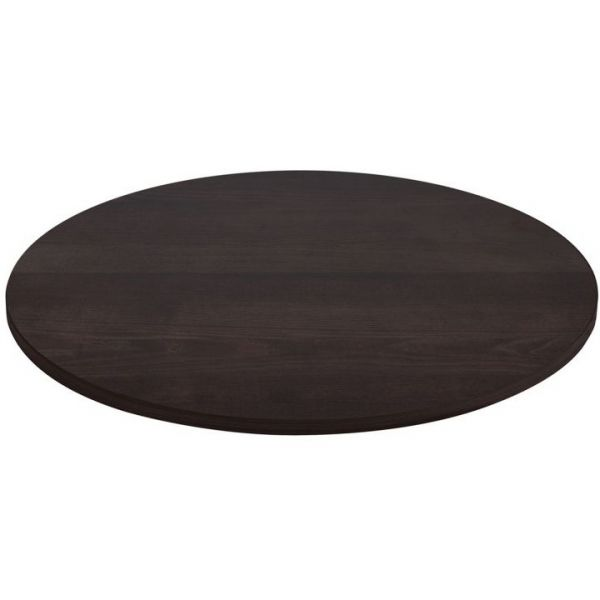Round Solid Ash Table Top - 800mm Diameter (Walnut)