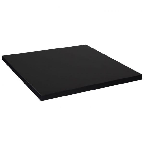 Square Mono Laminate Table Top - 800mm x 800mm (Black)
