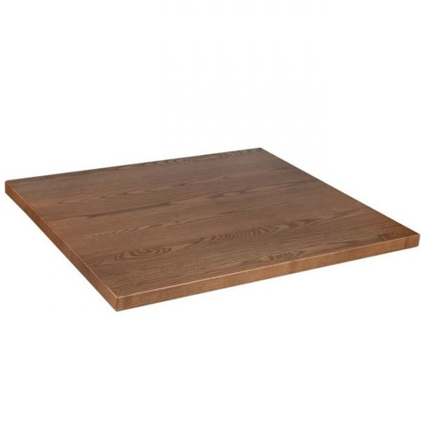 Square Solid Ash Table Top - 700mm x 700mm (Oak)