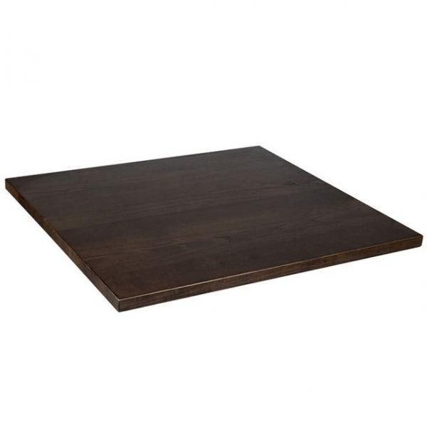 Square Solid Ash Table Top - 800mm x 800mm (Walnut)