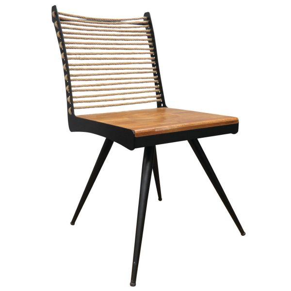 Industrial Ropeback Side Chair